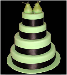 Perfect Pear Wedding Cake