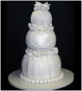 Stacked Spheres Wedding Cake